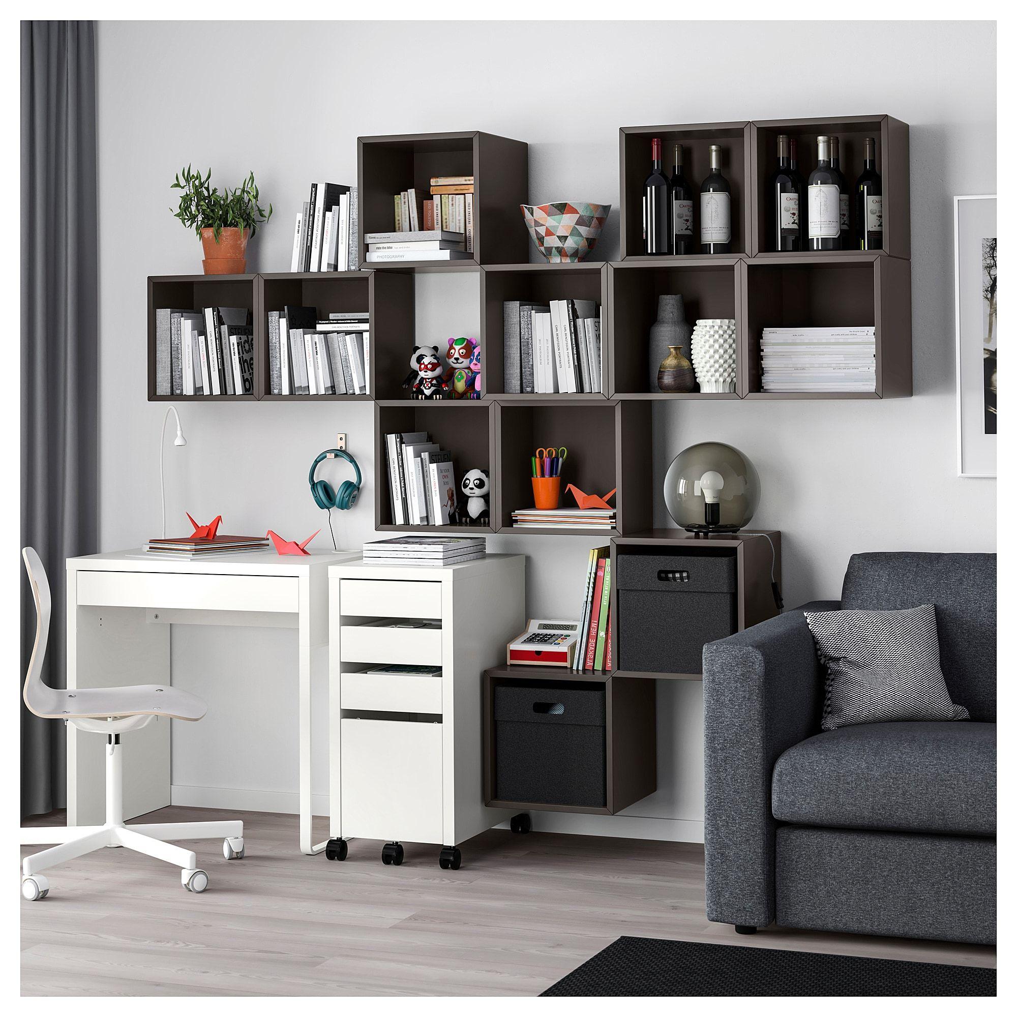 EKET Wall-mounted Cabinet Combination Dark Gray In