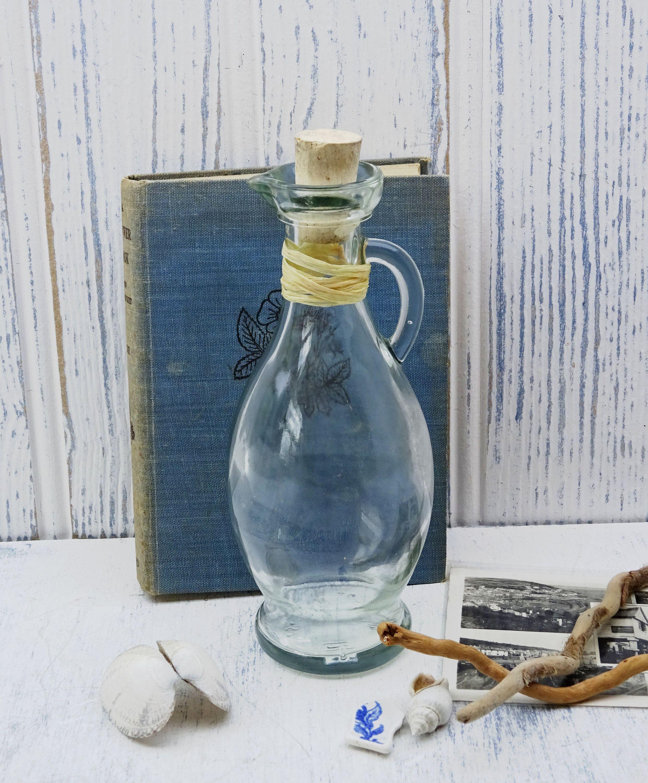 Vintage Clear Glass Oil Dispenser Vinegar Dispenser Bottle Etsy Oil Dispenser Olive Oil Bottles Small Glass Bottles