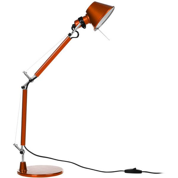 Artemide Tolomeo Micro Table Lamp Orange 230 Liked On Polyvore Featuring Home Lighting Table Lamps Orange Contemporary Artemide Lamp Lamp Table Lamp