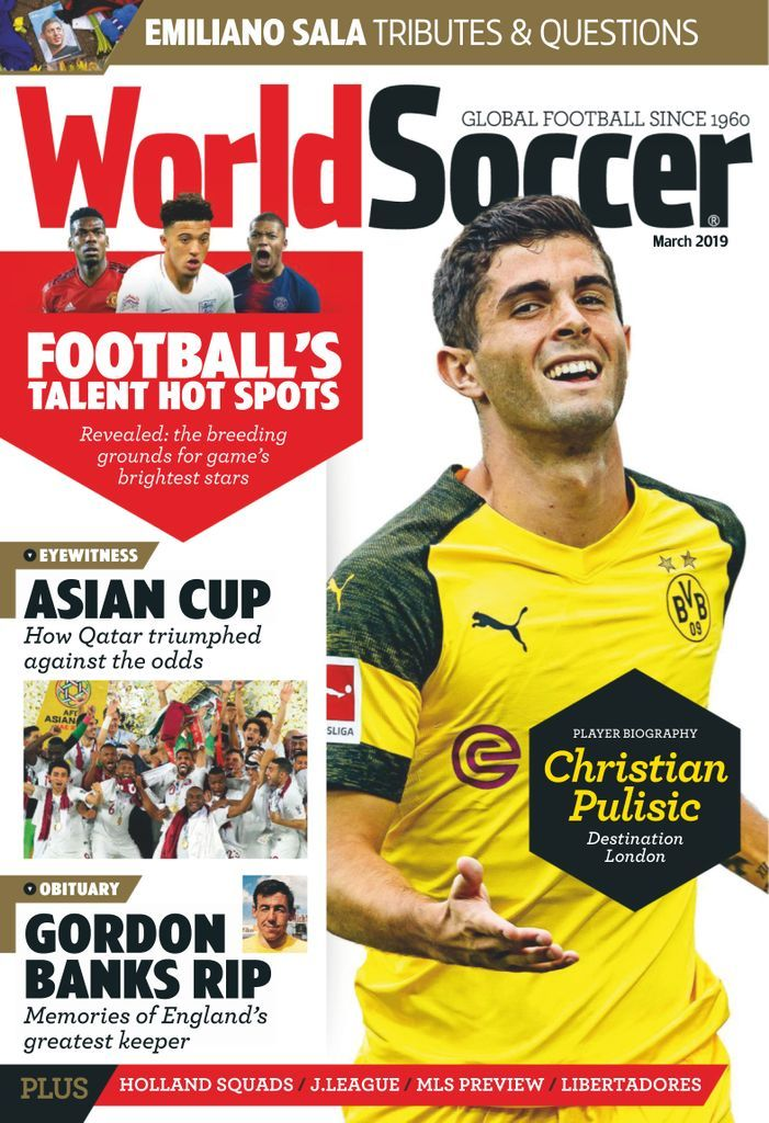 World Soccer March 2019 Sports magazine, Soccer, News