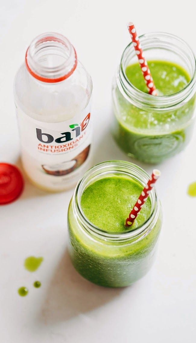 [Simple Coconut Green Smoothie] + Click For Recipe!  #easy #recipes #drinking