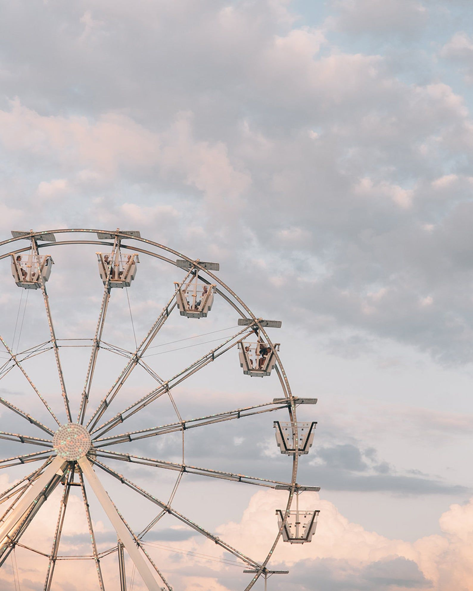 Carnival Photography, Ferris Wheel, Pastel decor,