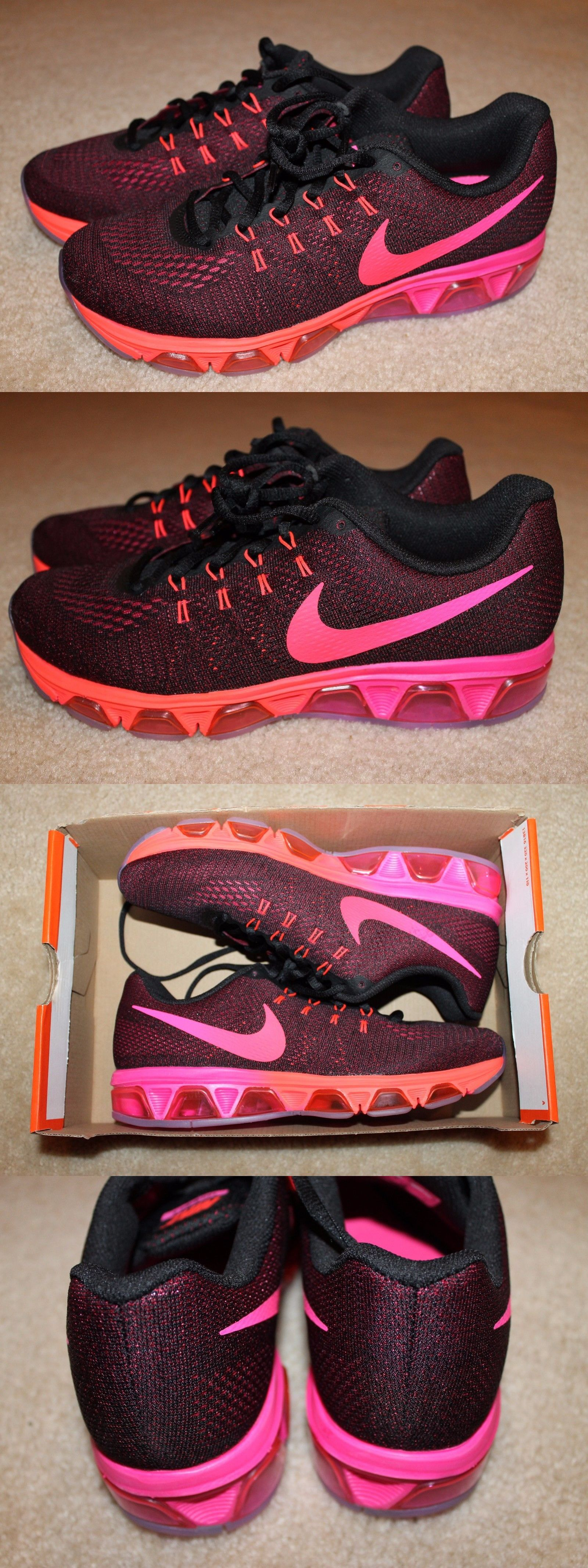 37bba5ca96ee0 ... usa athletic 95672 women s nike air max tailwind 8 running shoes black  pink size 9.5