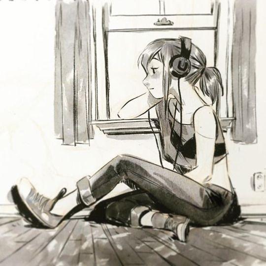 Music Sketch, Drawings, Illustration