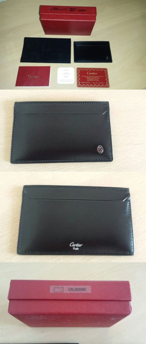 Business and Credit Card Cases 105860: New Authentic Cartier Black ...