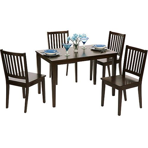 Shaker 5 Piece Dining Set Espresso 200 Dining Room Furniture Sets Dining Room Sets Rustic Dining Room