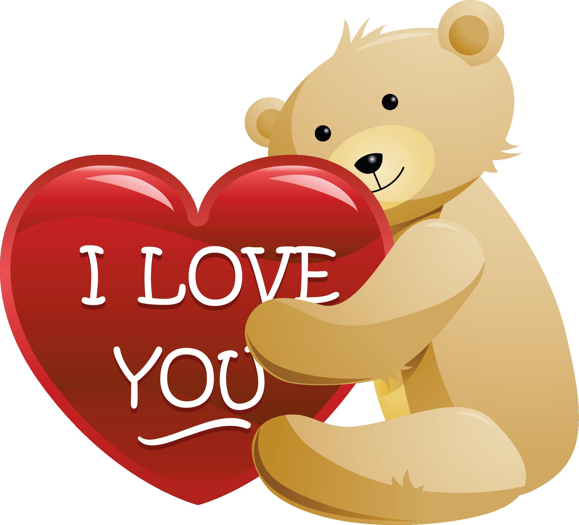 Bear With Love Heart Valentine Red Heart Teddy Bear