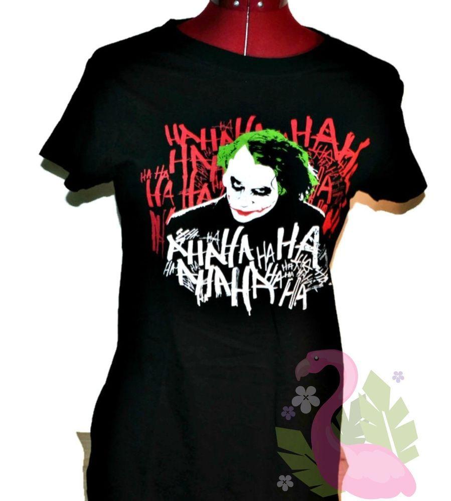 5145caed BATMAN The Dark Knight Graphic Tee XL Womens Heath Ledger Joker T-shirt  Black | Clothing, Shoes & Accessories, Women's Clothing, Tops | eBay!