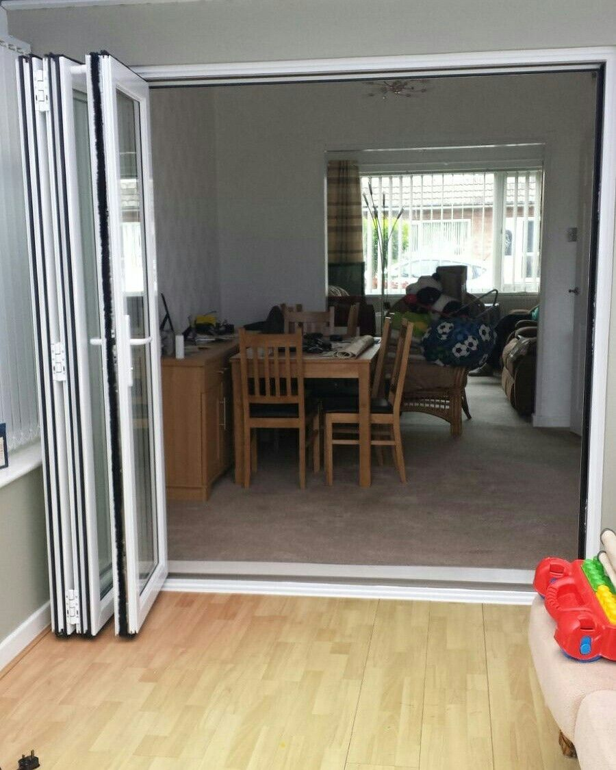 Bifolding doors installed leading from house to conservatory with a fantast customer review #yorkshire # & Bifolding doors installed leading from house to conservatory with a ...