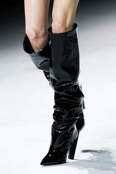 d8b139967814 Saint Laurent Slouchy Boot Paris Fashion Week Trend