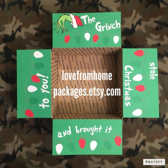 Grinch Stole Christmas Care Package Flap Kit Products Christmas