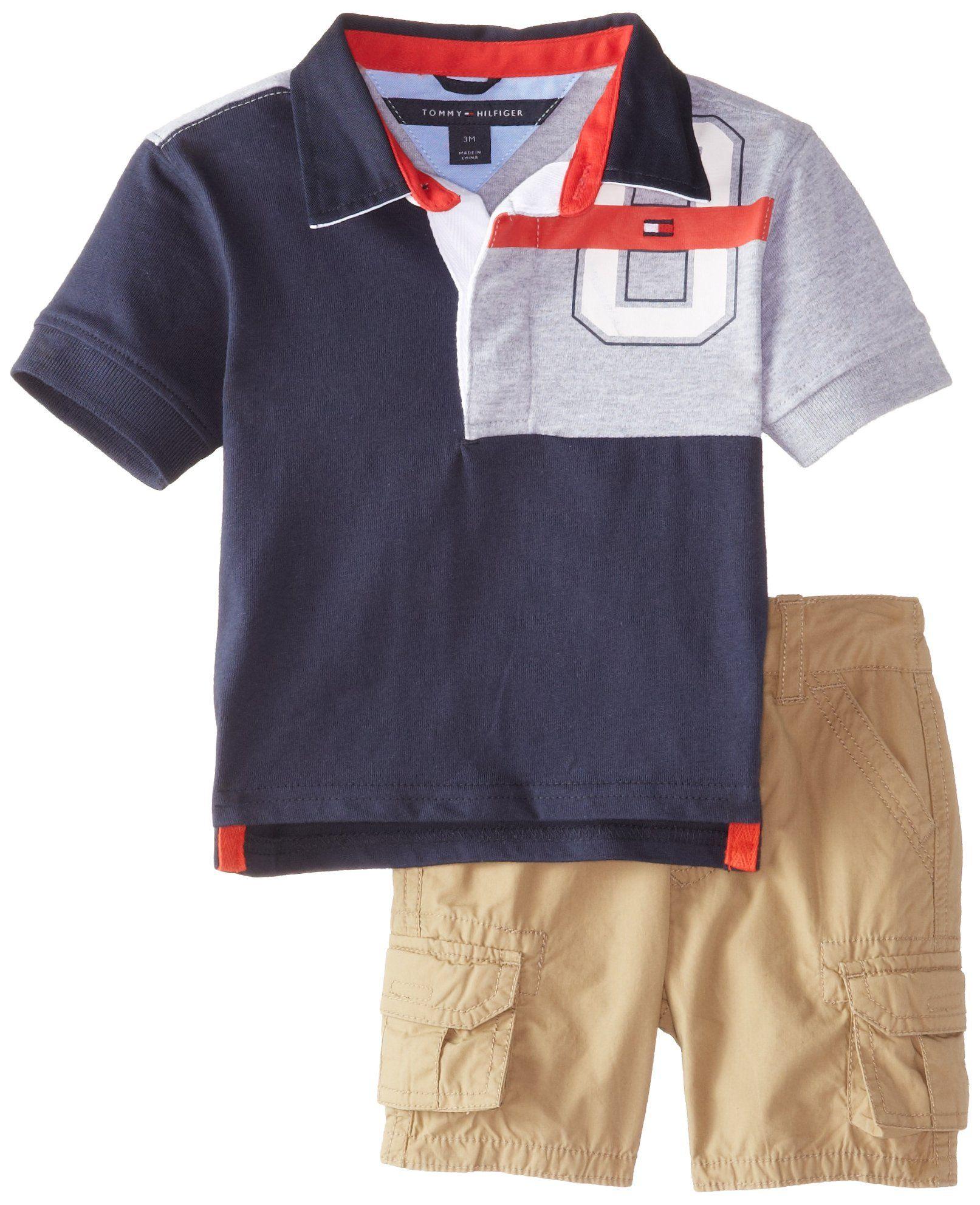 12e5e1548 Amazon.com  Tommy Hilfiger Baby-Boys Newborn Big 85 Jersey Rugby Set   Clothing