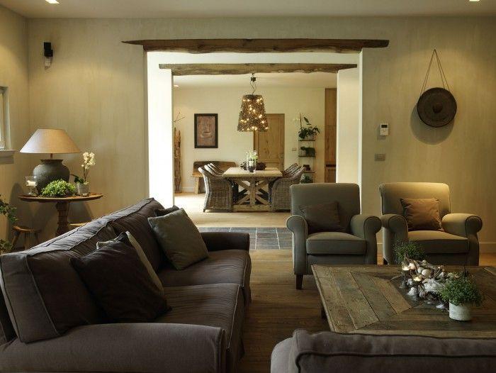 prachtige natuurlijke tinten in de woonkamer.. | woonkamer en, Deco ideeën