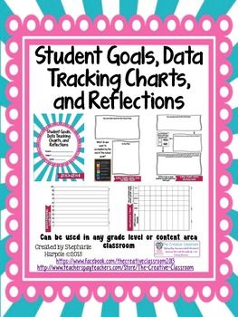 Student Data FolderGoal Setting Data Tracking Charts And Self