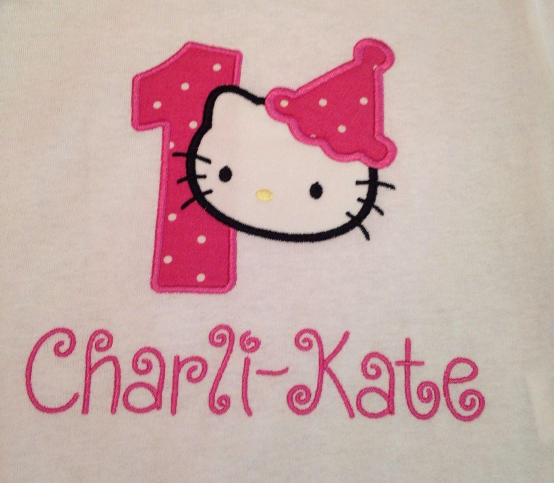 Uncategorized Hello Kitty Number hello kitty number one birthday shirt pinterest shirt
