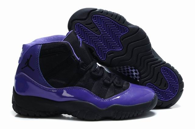 nike keystone pro conversion - Femmes Air Jordan 11 Violet Noir Chaussures | Air Jordan 11 Femm ...