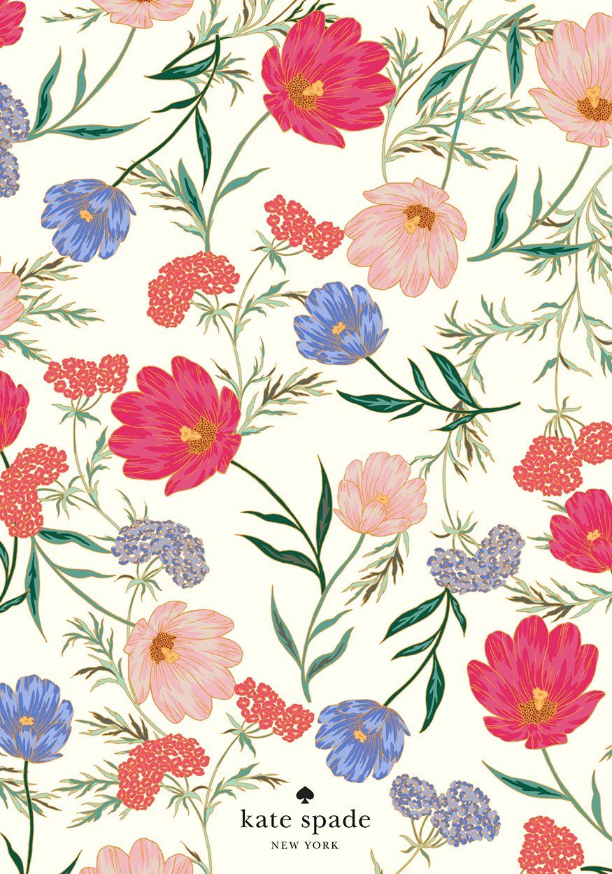 Spring Blooms To Go Download Them Kate Spade Wallpaper Iphone Wallpaper Kate Spade Spring Wallpaper