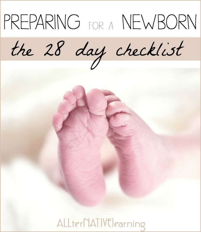 Preparing for a Newborn - The 28 Day Checklist Baby pregnancy - newborn checklist