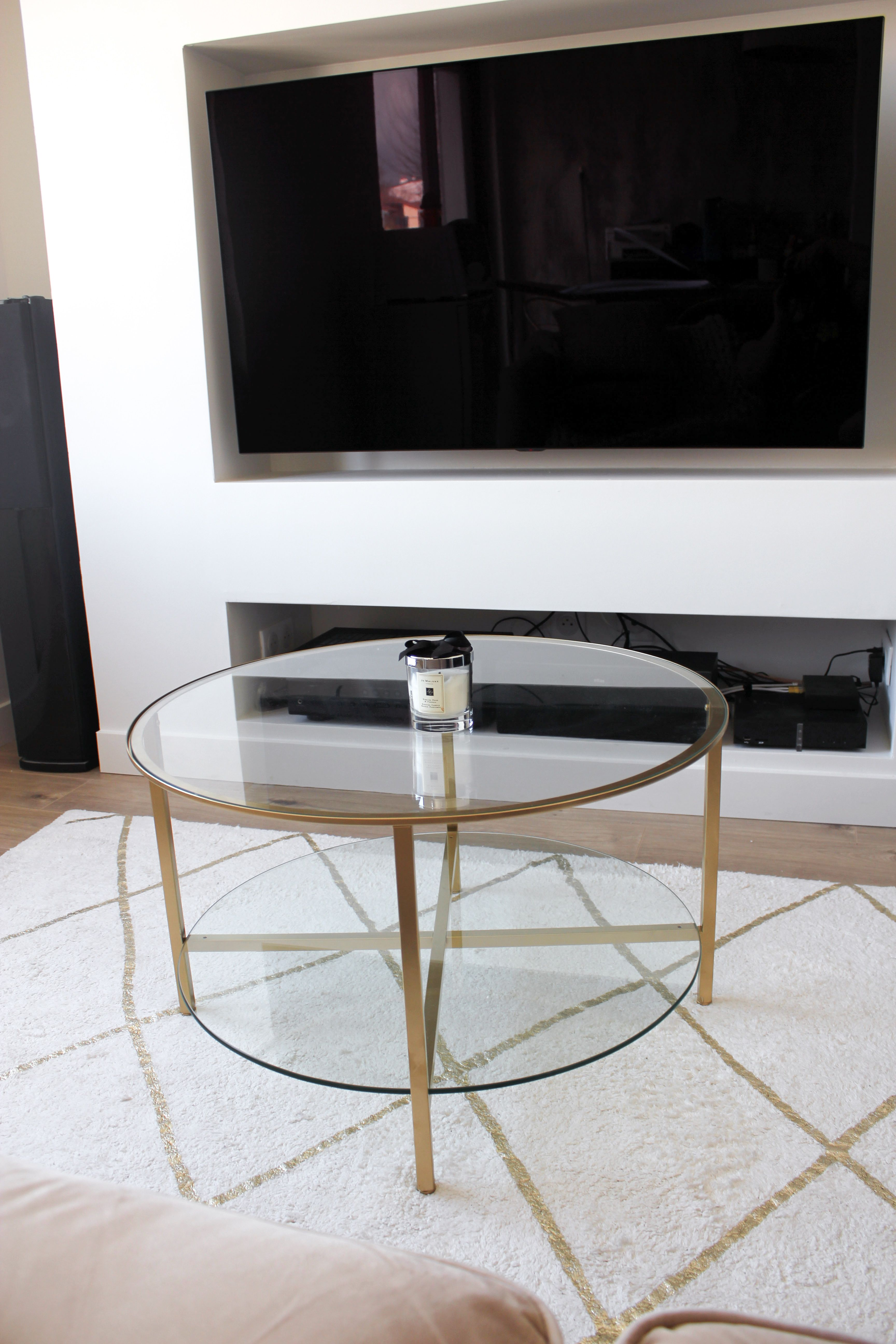 Ikea Hack Coffee Table Vittsjo Table Basse Table Basse Verre Ikea