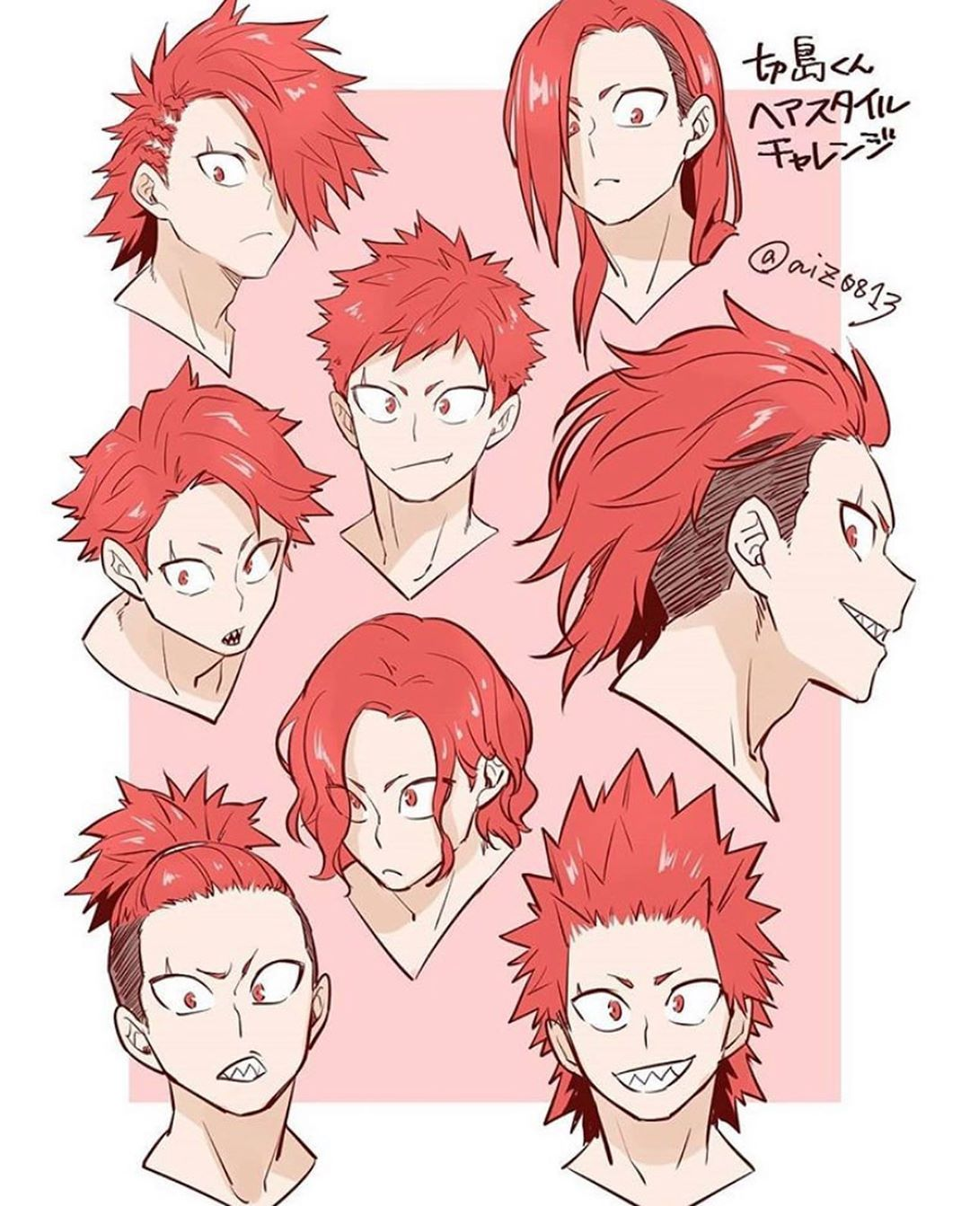 I Asked My Mom Who My Favorite Character Was And She Said The One With Purple Hair So I Showed Her Shinso And She Said No The O Hero Kirishima Eijirou