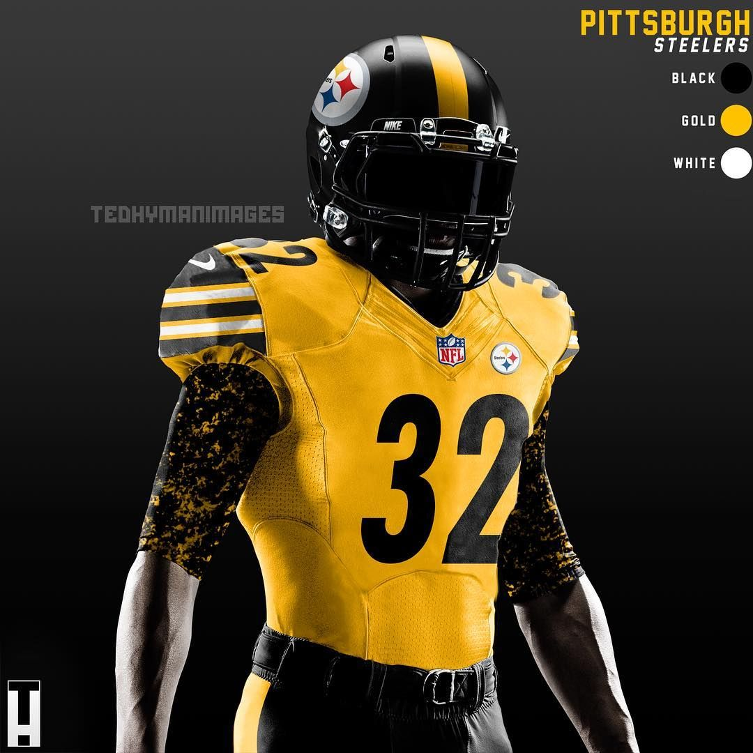 steelers gold jersey