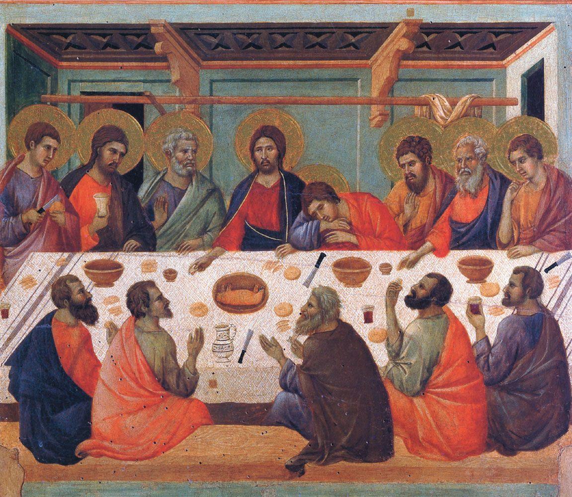 The Last Supper Duccio Duccio Di Buoninsegna Last Supper Giotto