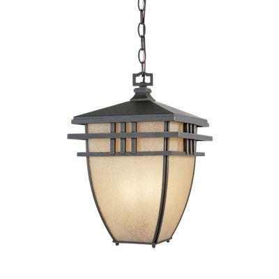 Dayton 3 Light Hanging Lantern - front porch