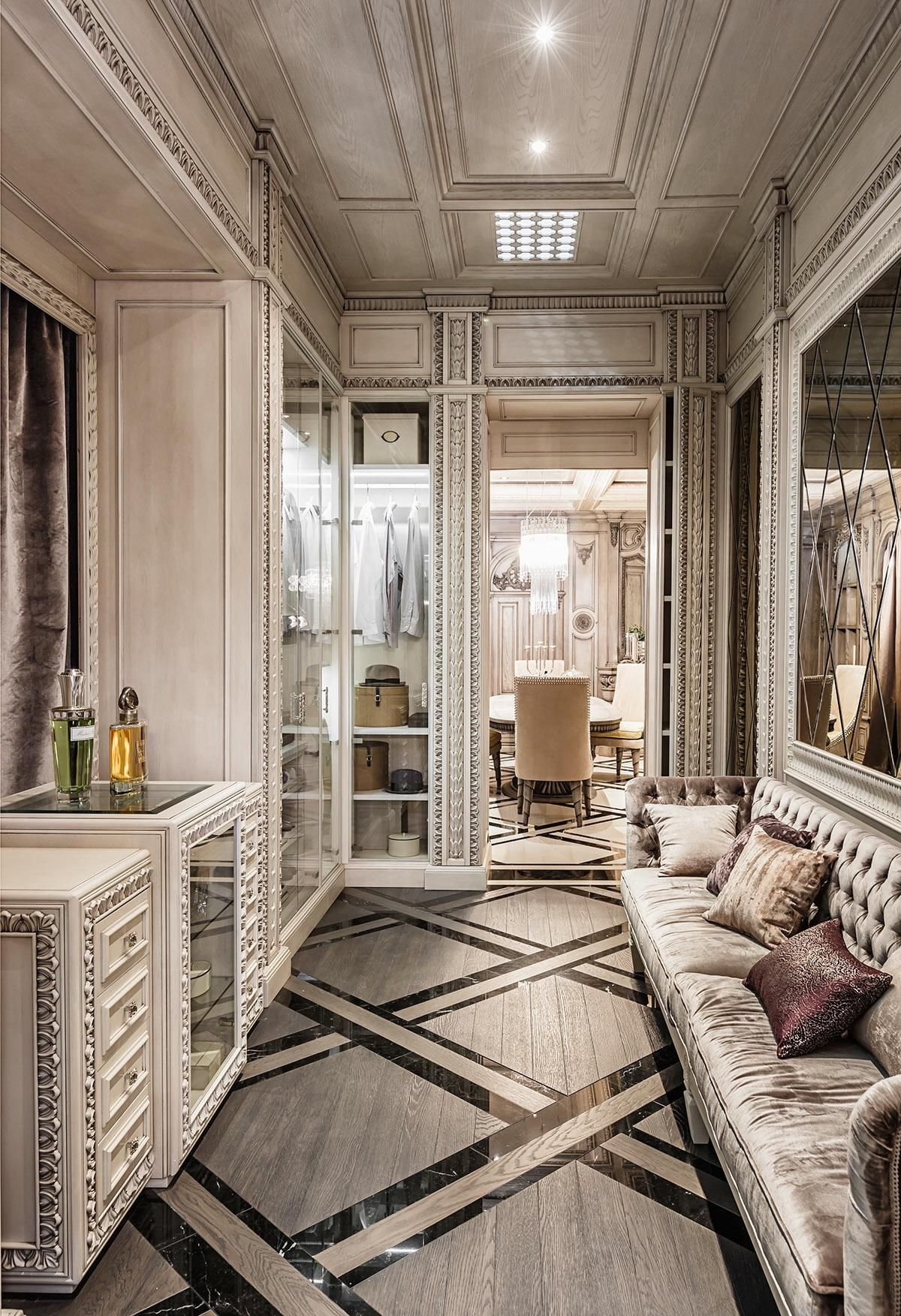 Neoclassical And Art Deco Features In Two Luxurious Interiors