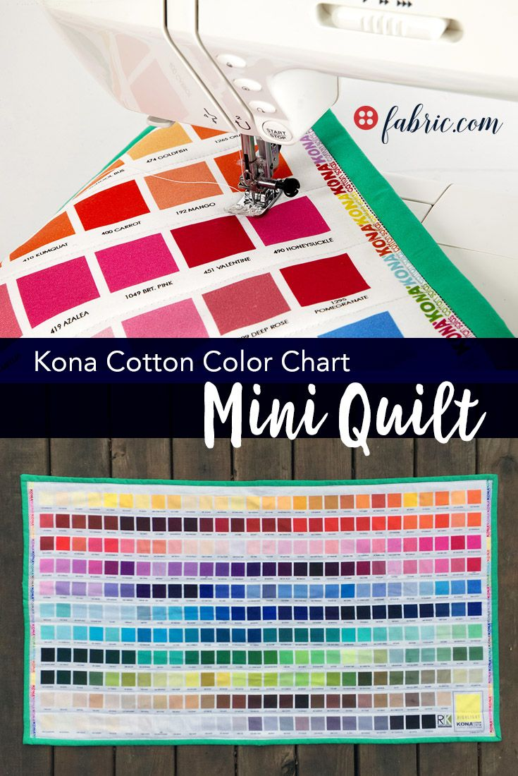 Kaufman kona digital printed color chart mini quilt mini quilts decorate your sewing room with this kona cotton color chart mini quilt nvjuhfo Images