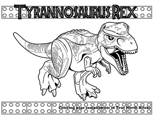 This LEGO T. Rex Coloring Page, And Many More, Available At Truenorthbricks.