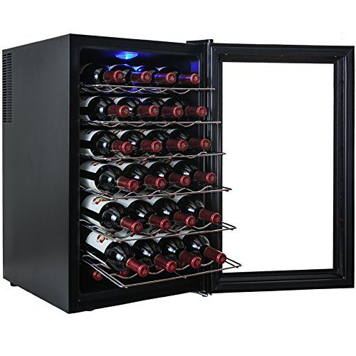 Akdy 28 Bottle Single Zone Thermoelectric Freestanding Wine Cooler