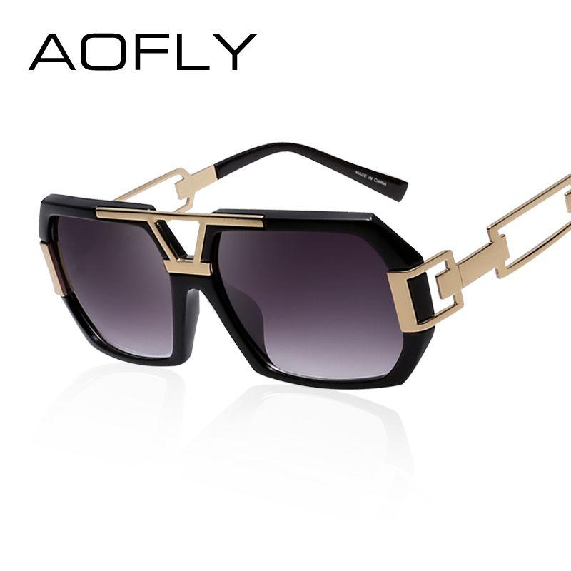 ba09ce072cfe1 Barato AOFLY Mulheres Quadrados Óculos De Sol Mulheres Marca de Designer de  Moda óculos de Sol