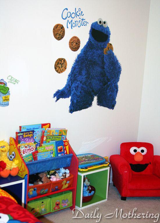 sesame street toddler kids room decor