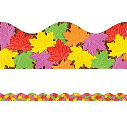 Fall Leaves Scalloped Trimmers - Classroom Trimmers & Décor - SmileMakers
