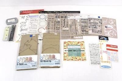 Lot Of  Misc Scrapbook Craft Rub On Transfer Letter Quotes New