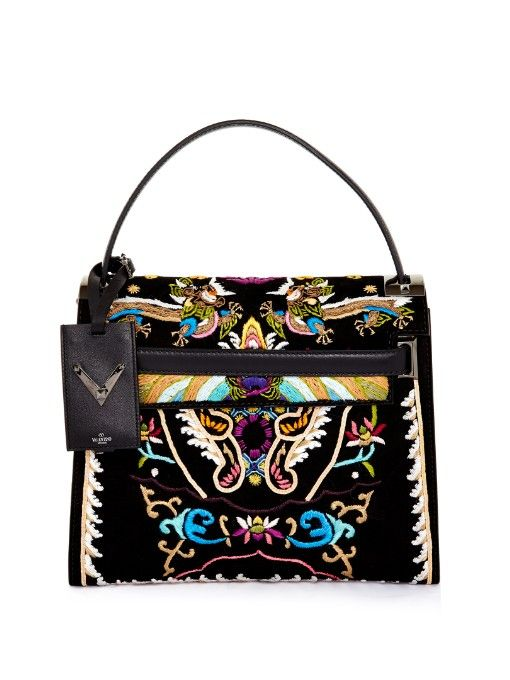 Valentino My Rockstud embroidered tote