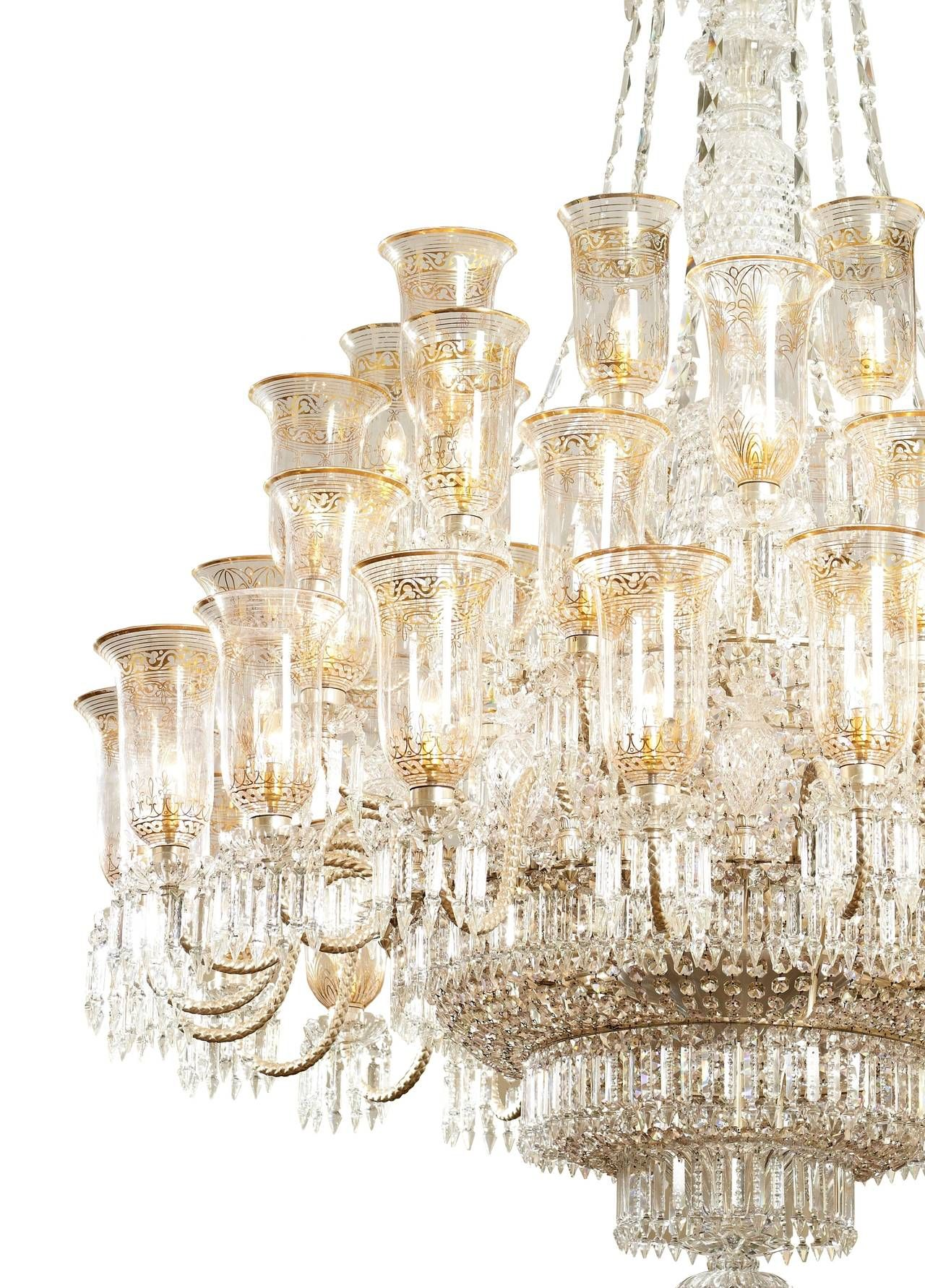 Very large cut glass and parcel gilt antique english chandelier by f very large cut glass and parcel gilt antique english chandelier by f c osler 1stdibs arubaitofo Image collections