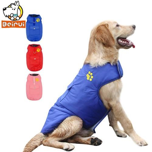 Waterproof Dog Vest Jacket Two Side Clothes Puppy Pet Clothing Warm Winter Dogs Coat For Small Medium Large Dogs Dog Winter Coat Dog Coats Dog Vest