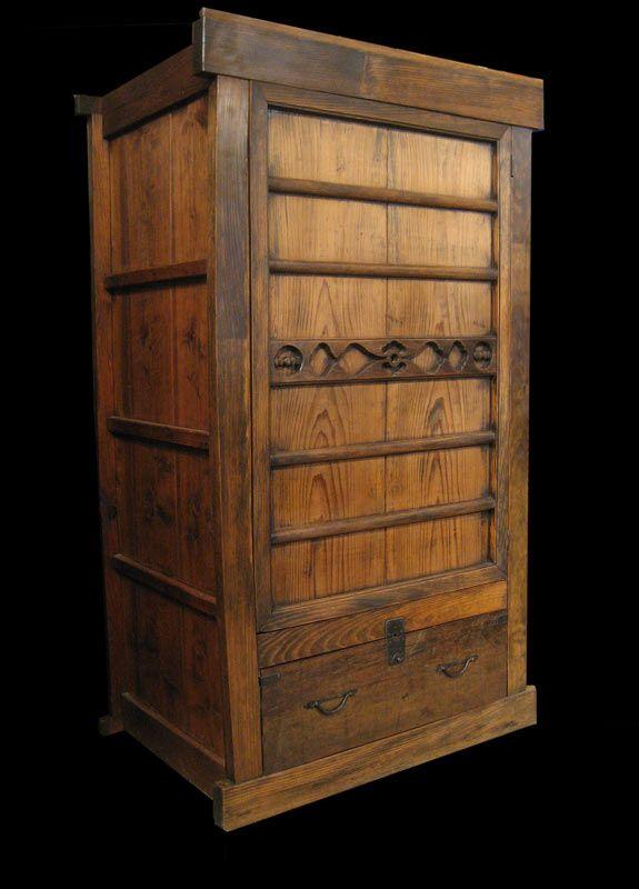 Japanese antique Zabuton chest.