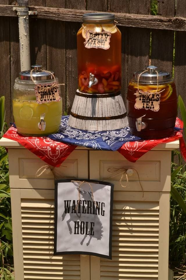 Awesome Western Theme Party Decoration Ideas Part - 10: Watering Hole For Western Themed 1st Birthday Party For My Son More