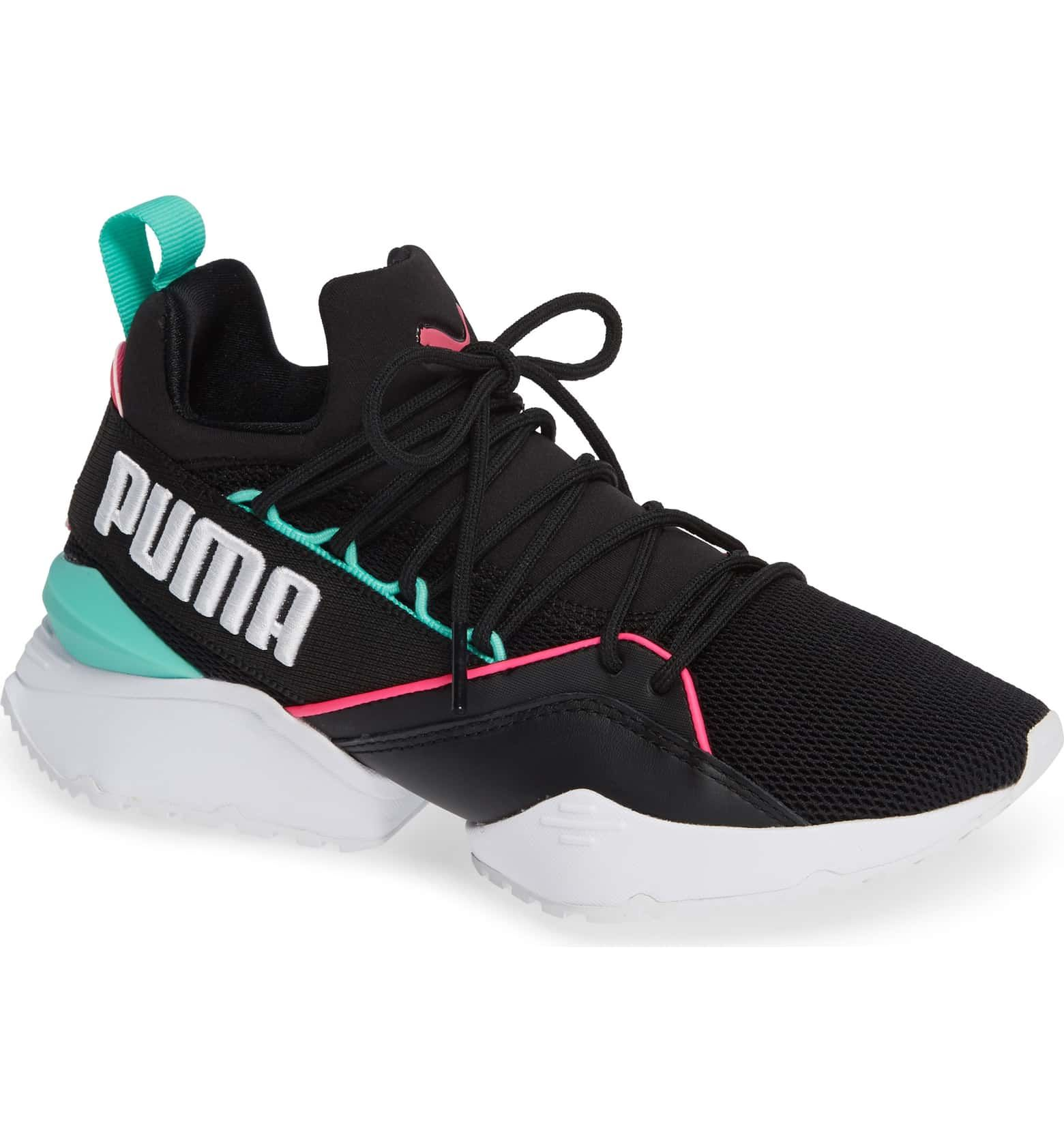 c0b1ff0f Muse Maia Utility Sneaker, Main, color, PUMA BLACK-KNOCKOUT PINK ...