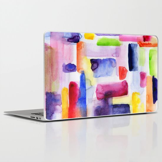 Color Block Watercolor Brushstroke Laptop Ipad Skin Ipad