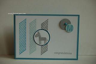 StampinUp! Zur Geburt - Junge Zoo Babies, Georgeous Grunge Zebra Blau-Gau