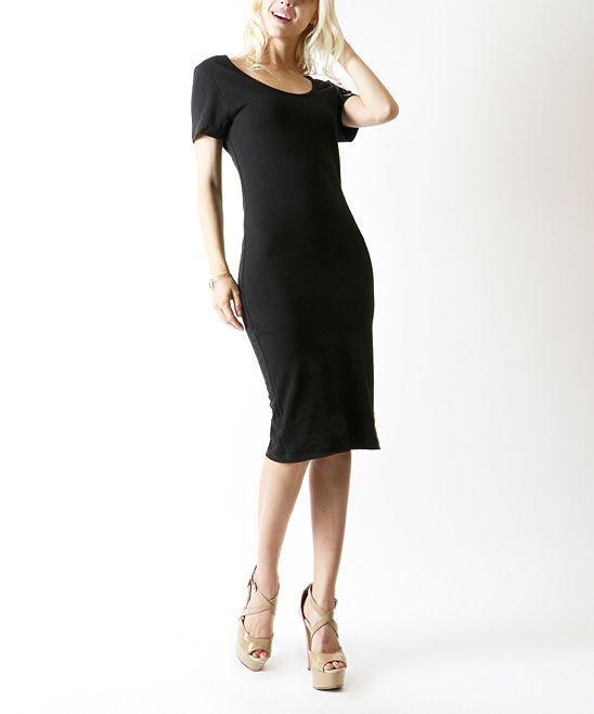 Black Classic Midi Dress
