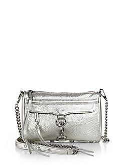 fc44db3ee7 Rebecca Minkoff - Metallic Leather Mini M.A.C. Convertible Crossbody ...