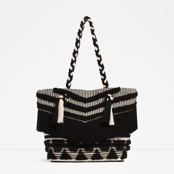 Image 1 of FRINGED TOTE from Zara