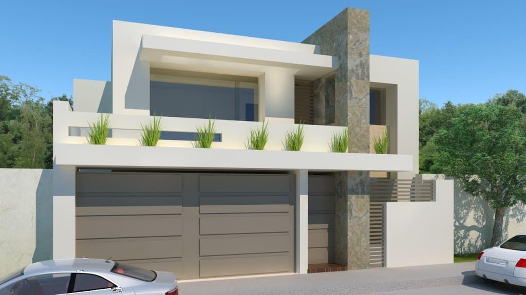 25 fachadas de casas modernas que debes ver antes de for Ver fachada de casas modernas