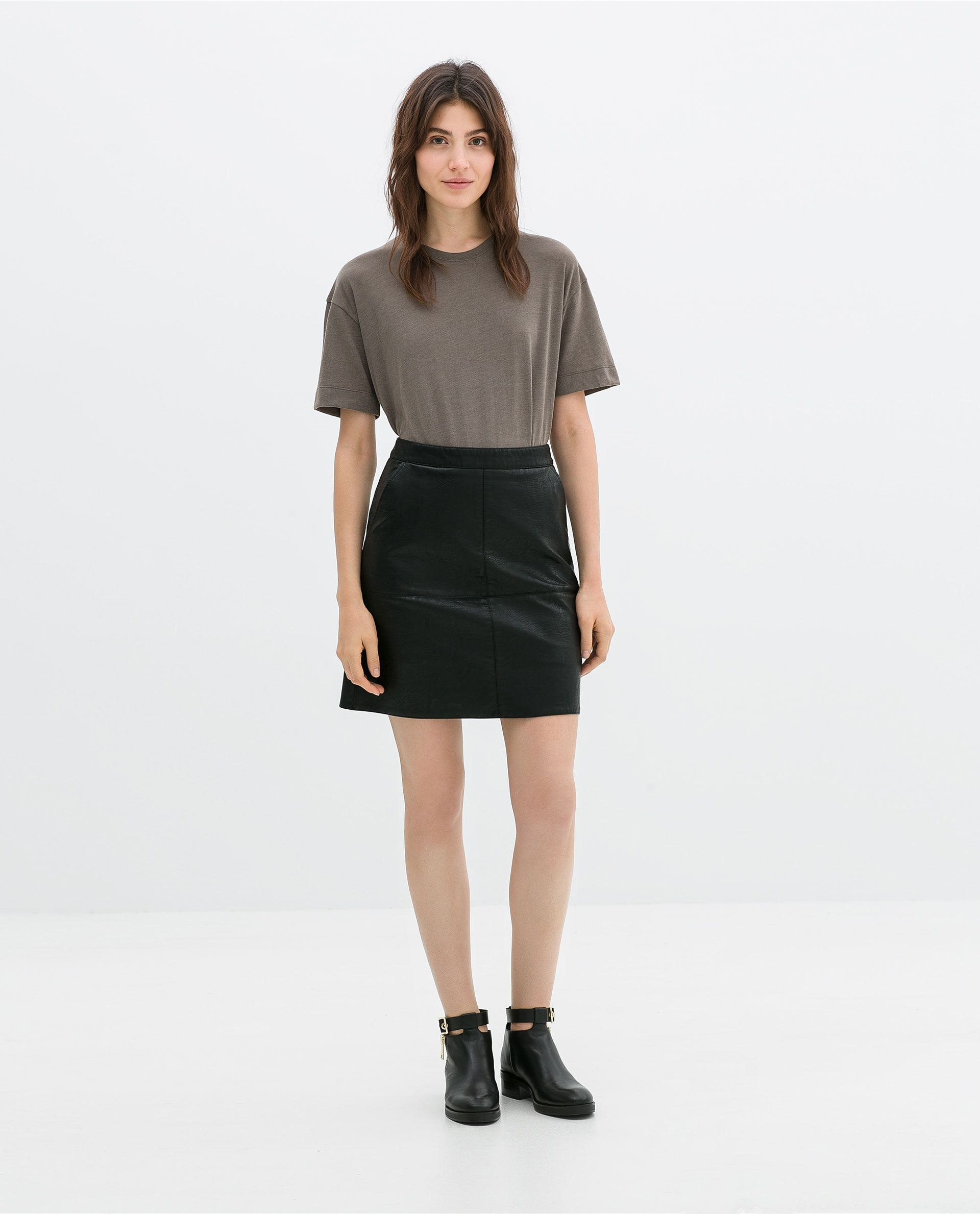 e01cb632b3 Zara Black faux leather Faux Leather Skirt, Black Faux Leather, Zara Black