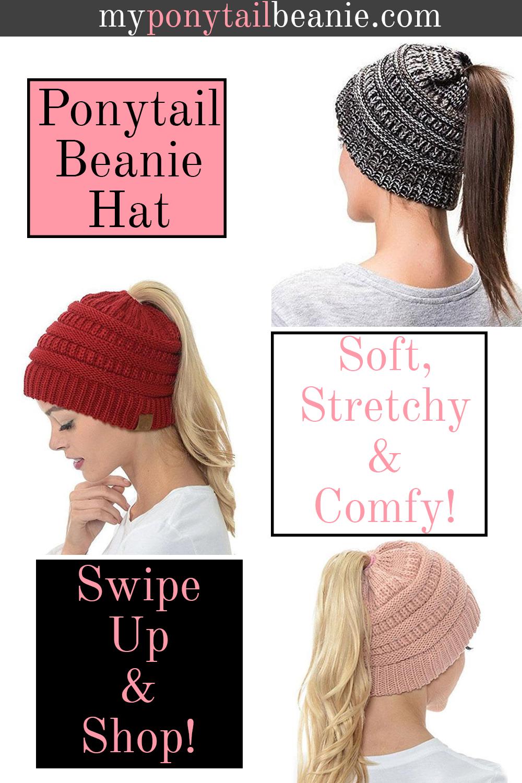 Extra Warm Ponytail Beanie Hat   Ccrafs   Pinterest