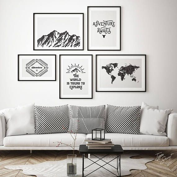 Horizontal print, paddles print, paddles art, paddles decor, nautical print, nautical printable art, boys nautical theme, boys room decor